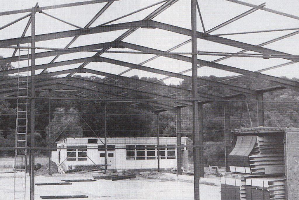 Construction du gymnase